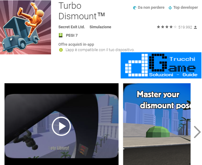 Trucchi  Turbo Dismount Mod Apk Android v1.25.0