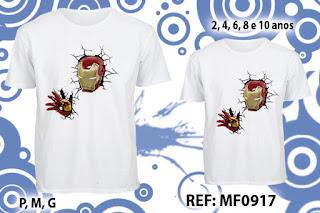 Tal Pai Tal Filho Camisetas Personalizadas Homen de ferro