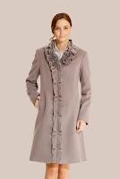 Palton lila din stofa de lana 427 (Ama Fashion)