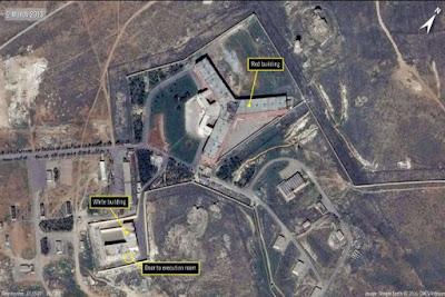Saydnaya prison near Damascus, Syria