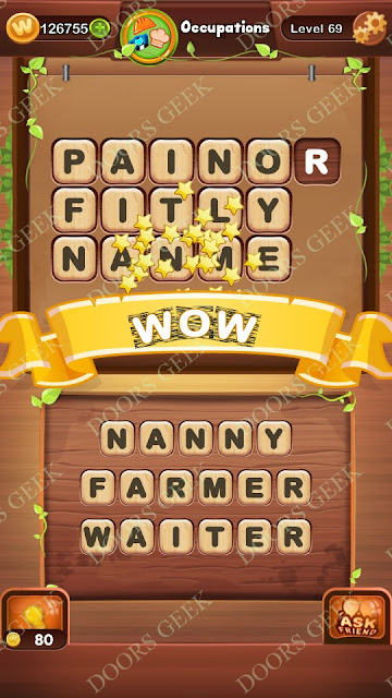 Word Bright Level 69 Answers, Cheats, Solutions, Walkthrough for android, iphone, ipad and ipod