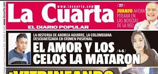 Colegio de Periodistas condena lenguaje que naturaliza el femicidio por titular de La Cuarta