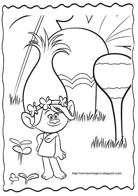 Princesa Poppy Filme Trolls Colorir