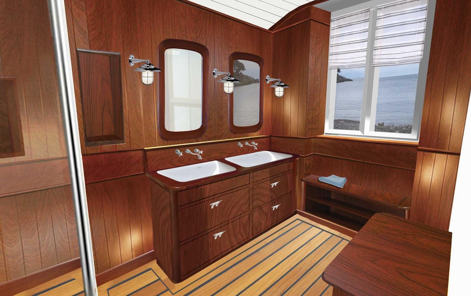 parquet salle de bain pont de bateau. Black Bedroom Furniture Sets. Home Design Ideas