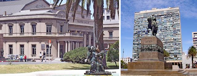 Montevidéu: Teatro Solis e monumento a Artigas