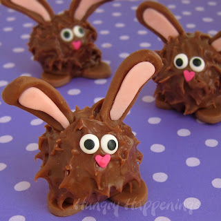 Peanut Butter Fudge Filled Chubby Chocolate Bunnies Recipe