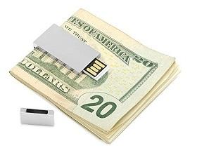 Flashdisk unik bentuk penjepit uang