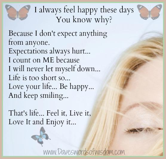 Feeling Happy Quotes: Daveswordsofwisdom.com: Feeling Happy