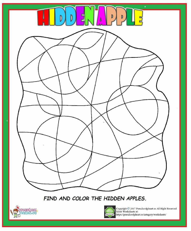 Hidden Apple Worksheet