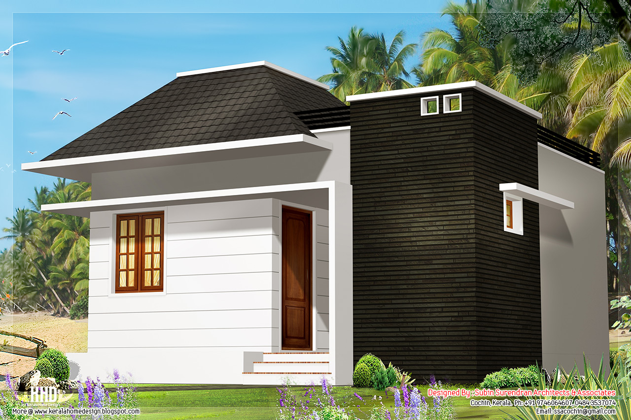 2 single floor cottage home designs kerala home design for One floor cottage house plans