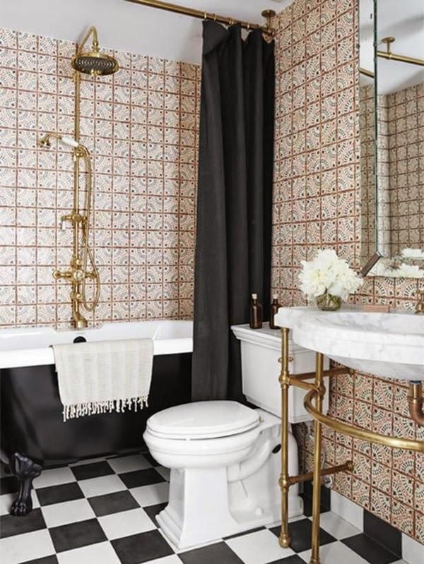 Diseño de baño pequeño elegante