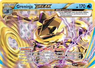 Greninja BREAK BREAKpoint Pokemon Card