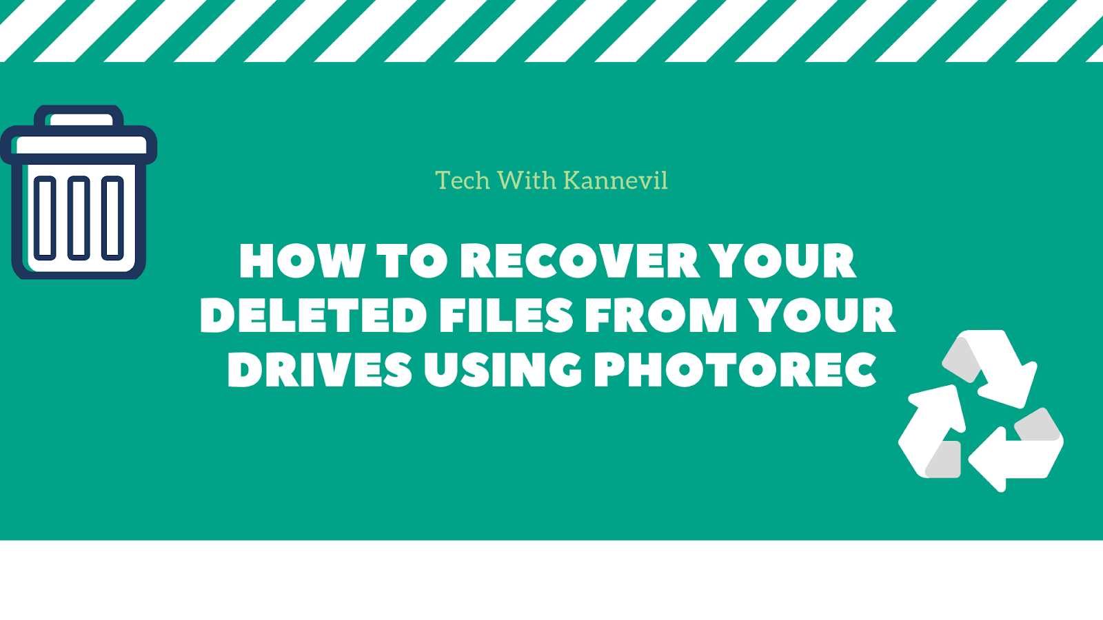 How to recover your deleted files using Photorec even after