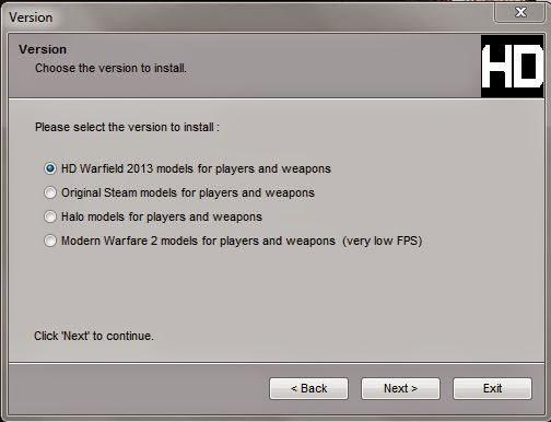 Counter Strike 1.6 HD Warfield - 2013 [ Protocol 48 (Non-Steam Installer) ]