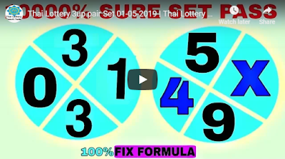 Thailand lottery hot 3up formula tips pair Set 01 May 2019