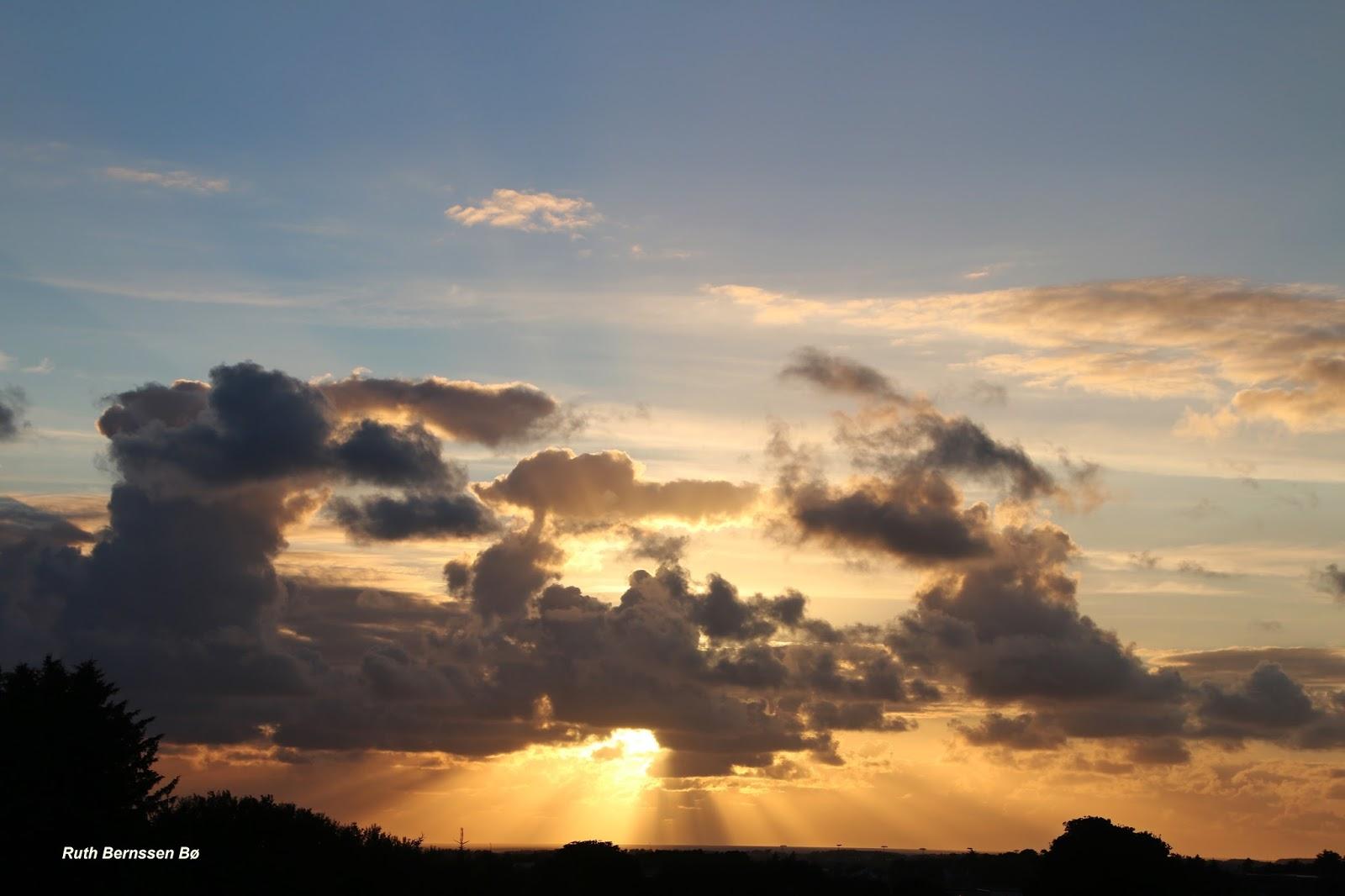 en himmel full av skyer