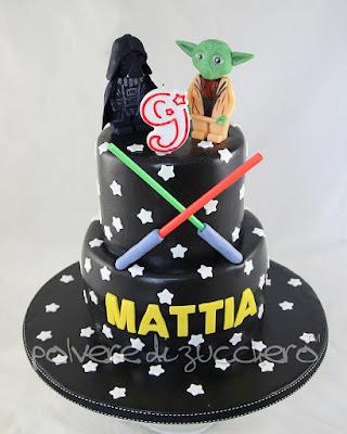 star wars lego yoda darth vader pasta di zucchero polvere di zucchero torta decorata cake design pasta di zucchero