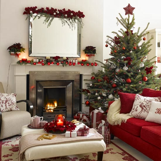 HD WALLPAPERS: Christmas Living Room Decorating Ideas