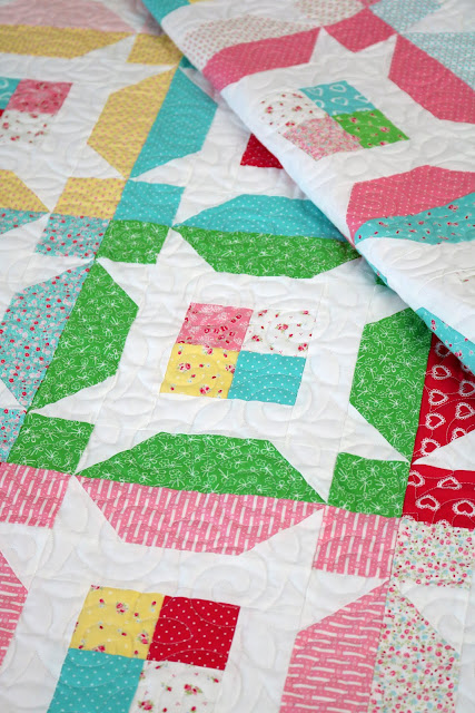 Little Miss quilt pattern - jelly roll or layer cake quilt pattern designed by Andy of A Bright Corner