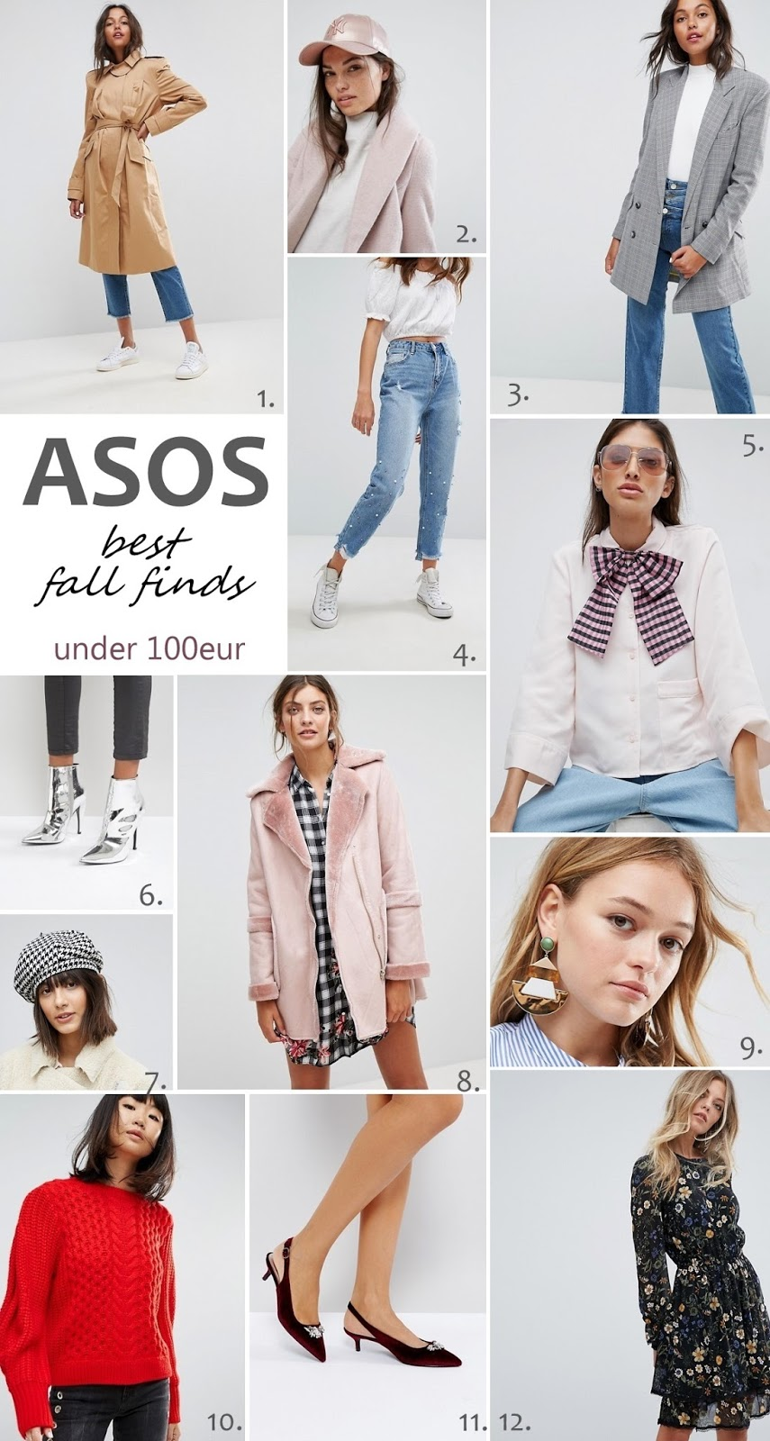 asos best fall fashion finds under 100 eur