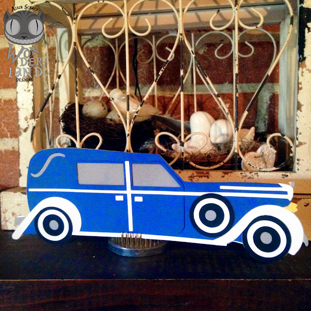card, card making, paper crafting, vintage, classic car