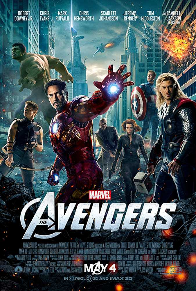 Poster The Avengers 2012 Dual Audio HD 720p