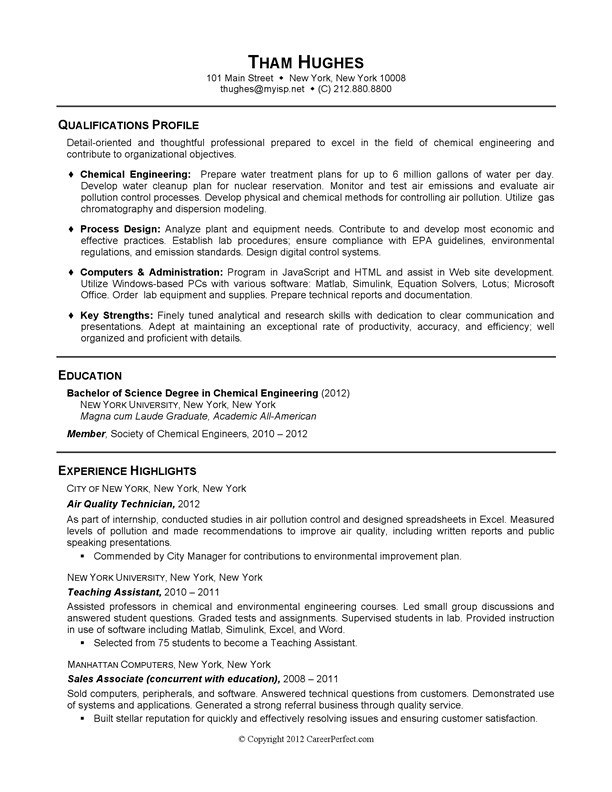 recent graduate resume templates