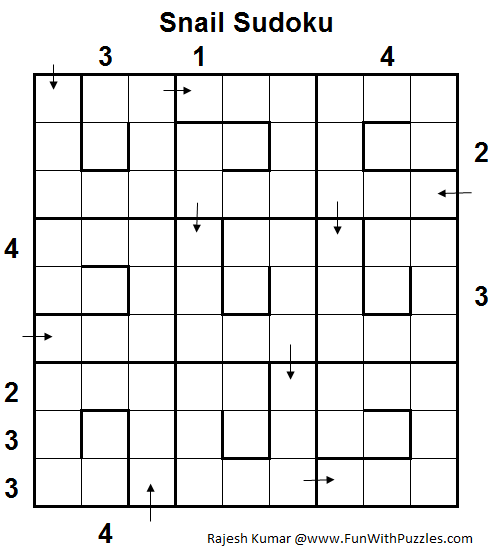 Snail Sudoku (Logical Puzzles Series #6)