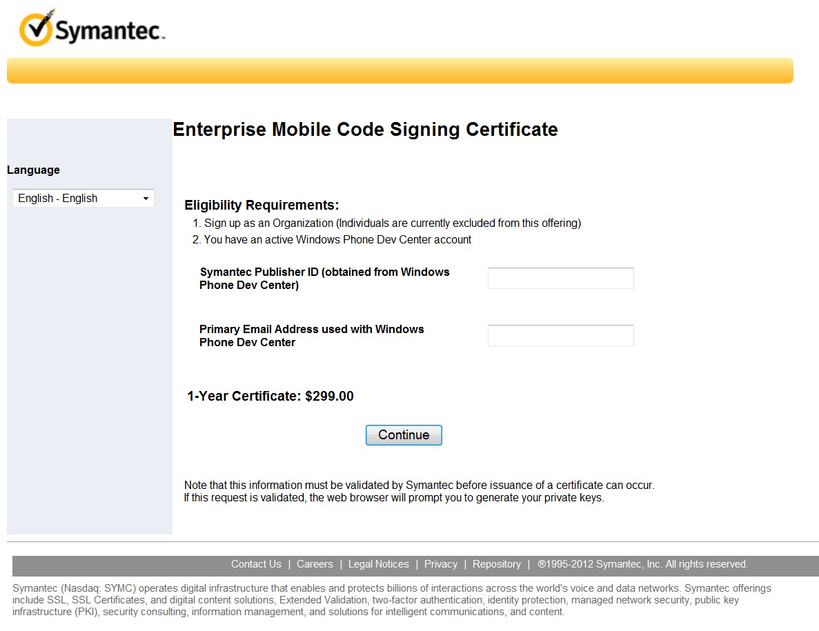 Windows App Enterprise Code Signing: Install & Export