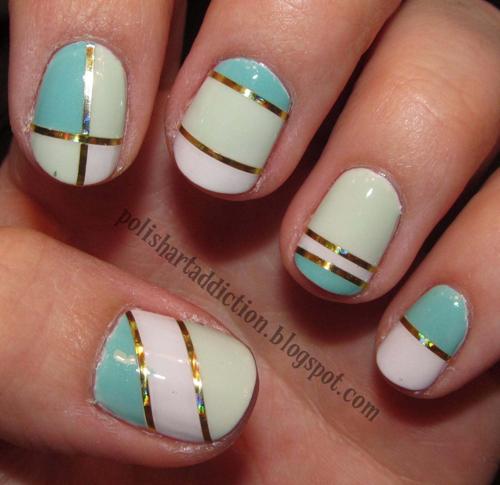 Nail Designs Scotch Tape#*^