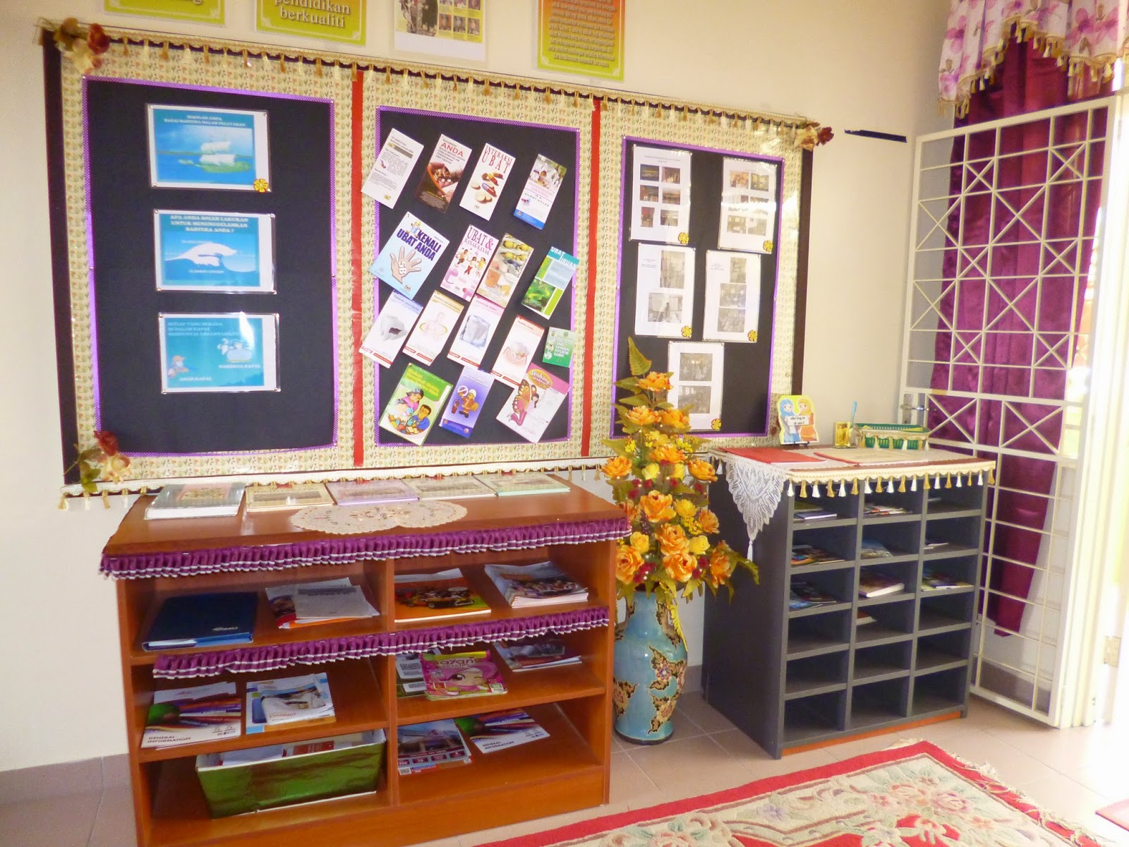 Masuk Saja Ruang Tamu Dan Ada Dua Bilik 1 Dijadikan Sesi Lagi Pengurusan Sudut Membaca
