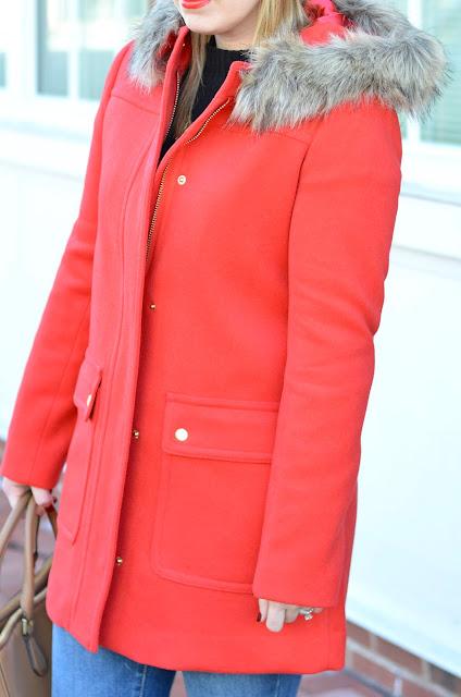 red-jcrew-faux-fur-coat