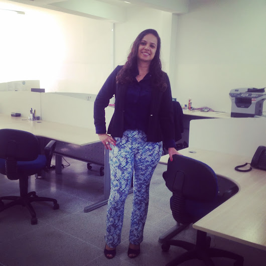 Look do Dia - Tons de Azul