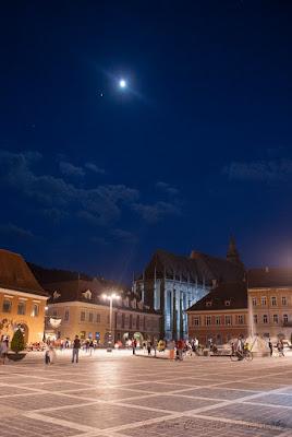Night in Brasov Kronstadt Brasso Corona