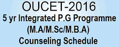 OUCET 5 year Integrated PG Courses