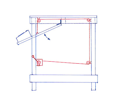 Control panel winch system side diagram