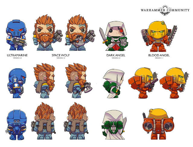 Bocetos de Funko Pop Marines Espaciales