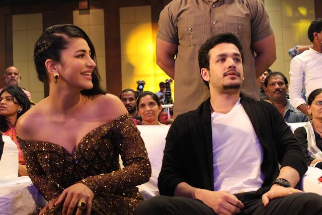 akkineni akhil, shruthi hassan at Premam telugu movie audio launch