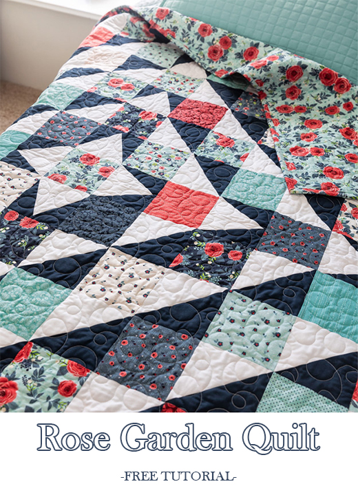 Rose Garden Quilt Free Tutorial designed by Jenny of Missouri Quilt Co