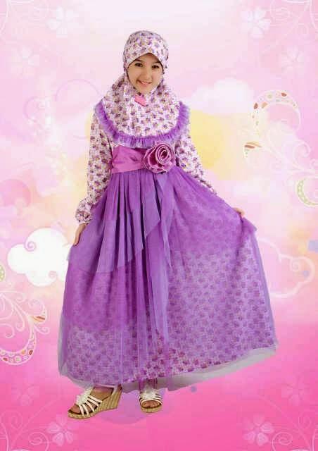 Model Baju Muslim Gamis Lebaran Anak Perempuan Terbaru