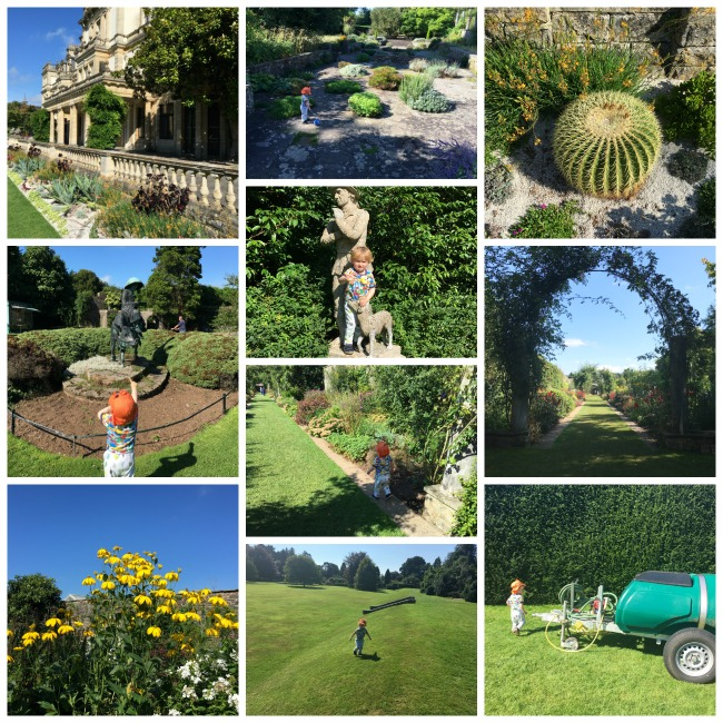 Familiar-faces-and-places-collage-of-toddler-at-Dyffryn-gardens-Vale-of-Glamorgan