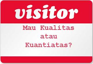 Kwatitas pengunjung atau kwantitas pengunjung