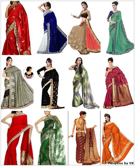 Modelos de saris
