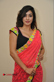 Actress Vaibhavi Joshi Pictures in Red Saree at Guntur Talkies 2 Movie Opening  0053.JPG