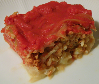Piece of Unstuffed Cabbage Casserole