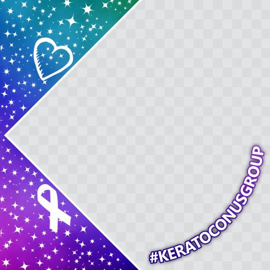 Keratoconus Facebook Profile Picture Frame