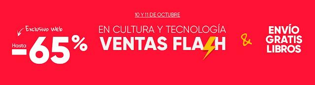 Ventas Flash 10 y 11 de octubre de 2017 en Fnac.es