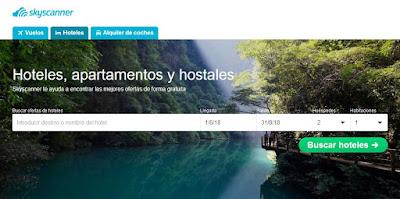 Skyscanner buscador de hoteles