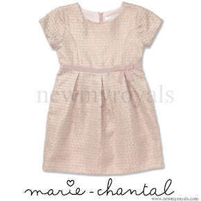 Princess Estelle of Sweden wore Marie Chantal jacquard star dress