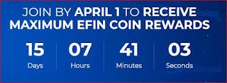 """مشروع منصة """"إفان EFIN"""" سارع بالتسجيل للحصول على 1000 عملة قابلة للمضاعفة"""